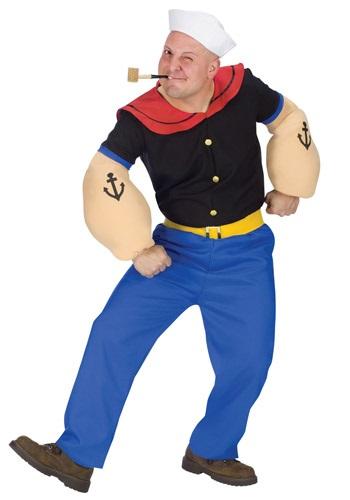 大人用 Popeye コスチューム クリスマス ハロウィン メンズ コスプレ 衣装 男性 仮装 男性用 イベント パーティ ハロウィーン 学芸会