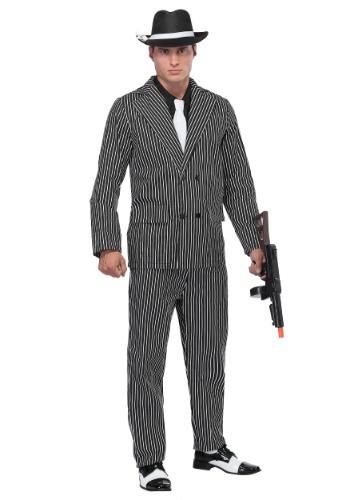 Men's Wide Pin Stripe Gangster コスチューム クリスマス ハロウィン メンズ コスプレ 衣装 男性 仮装 男性用 イベント パーティ ハロウィーン 学芸会