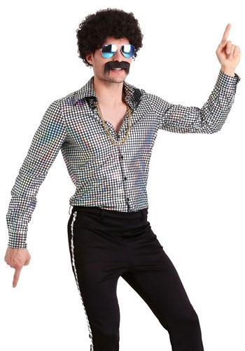 Men's ディスコ Ball Shirt クリスマス ハロウィン メンズ コスプレ 衣装 男性 仮装 男性用 イベント パーティ ハロウィーン 学芸会