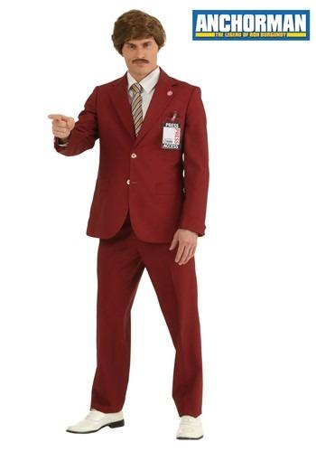 【ポイント最大29倍●お買い物マラソン限定!エントリー】大きいサイズ Authentic Ron Burgundy Suit コスチューム ハロウィン メンズ コスプレ 衣装 男性 仮装 男性用 イベント パーティ ハロウィーン 学芸会