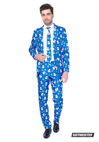 【ポイント最大29倍●お買い物マラソン限定!エントリー】Blue Snowman Men's Suitmeister Suit ハロウィン メンズ コスプレ 衣装 男性 仮装 男性用 イベント パーティ ハロウィーン 学芸会