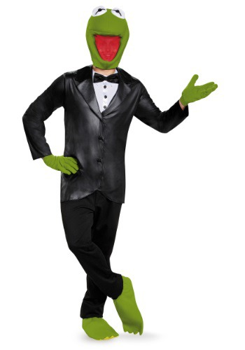 【ポイント最大29倍●お買い物マラソン限定!エントリー】Deluxe Kermit the Frog 大人用 コスチューム ハロウィン メンズ コスプレ 衣装 男性 仮装 男性用 イベント パーティ ハロウィーン 学芸会