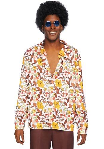 【ポイント最大29倍●お買い物マラソン限定!エントリー】Men's 70s Floral Shirt ハロウィン メンズ コスプレ 衣装 男性 仮装 男性用 イベント パーティ ハロウィーン 学芸会