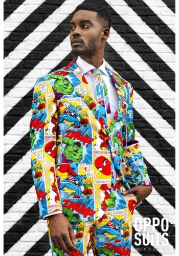 【ポイント最大29倍●お買い物マラソン限定!エントリー】Men's OppoSuits Marvel Comics Suit ハロウィン メンズ コスプレ 衣装 男性 仮装 男性用 イベント パーティ ハロウィーン 学芸会