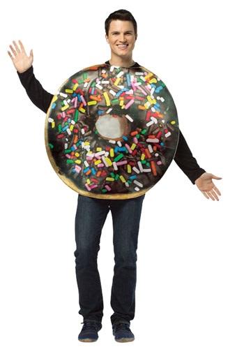 大人用 Get Real Doughnut コスチューム クリスマス ハロウィン メンズ コスプレ 衣装 男性 仮装 男性用 イベント パーティ ハロウィーン 学芸会