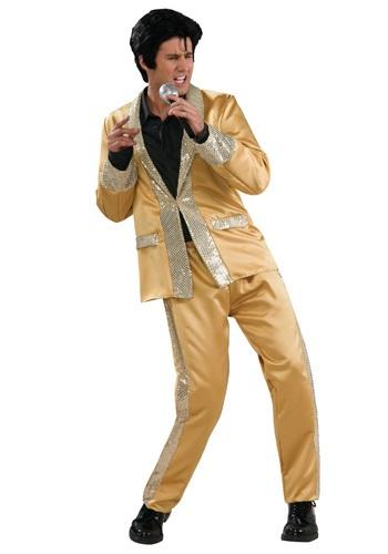 【ポイント最大29倍●お買い物マラソン限定!エントリー】Deluxe Gold Satin Elvis コスチューム ハロウィン メンズ コスプレ 衣装 男性 仮装 男性用 イベント パーティ ハロウィーン 学芸会