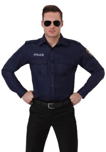 大きいサイズ 大人用 Long Sleeve ポリス 警察 Shirt クリスマス ハロウィン メンズ コスプレ 衣装 男性 仮装 男性用 イベント パーティ ハロウィーン 学芸会