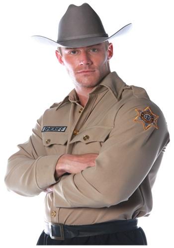 Mens Sheriff Shirt クリスマス ハロウィン メンズ コスプレ 衣装 男性 仮装 男性用 イベント パーティ ハロウィーン 学芸会