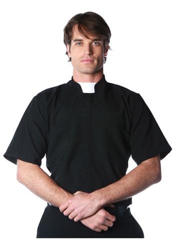 大きいサイズ Priest Shirt クリスマス ハロウィン メンズ コスプレ 衣装 男性 仮装 男性用 イベント パーティ ハロウィーン 学芸会