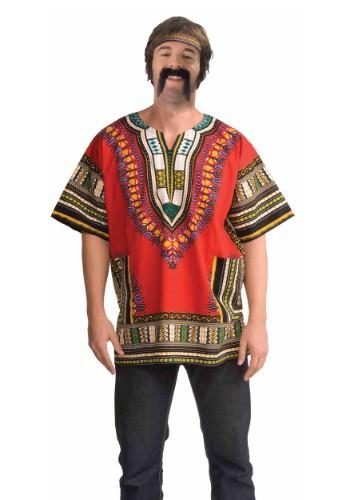 大人用 Red Dashiki Shirt クリスマス ハロウィン メンズ コスプレ 衣装 男性 仮装 男性用 イベント パーティ ハロウィーン 学芸会