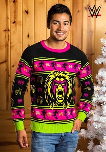 【ポイント最大29倍●お買い物マラソン限定!エントリー】WWE Ultimate Warrior Ugly Christmas Sweater For 大人用s ハロウィン メンズ コスプレ 衣装 男性 仮装 男性用 イベント パーティ ハロウィーン 学芸会