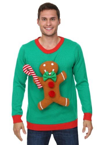 3D Gingerbread Man Ugly Christmas Sweater クリスマス ハロウィン メンズ コスプレ 衣装 男性 仮装 男性用 イベント パーティ ハロウィーン 学芸会