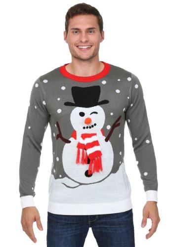Snowman with Scarf Ugly Christmas コスチューム Sweater クリスマス ハロウィン メンズ コスプレ 衣装 男性 仮装 男性用 イベント パーティ ハロウィーン 学芸会