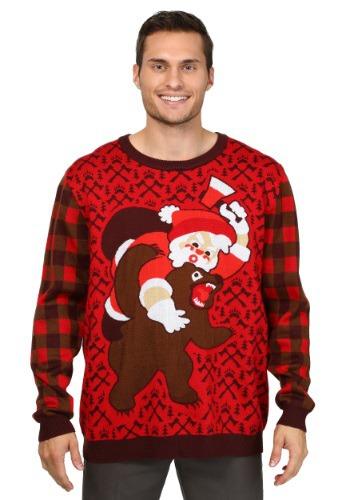 【ポイント最大29倍●お買い物マラソン限定!エントリー】Santa vs. Bear Ugly Christmas Sweater ハロウィン メンズ コスプレ 衣装 男性 仮装 男性用 イベント パーティ ハロウィーン 学芸会