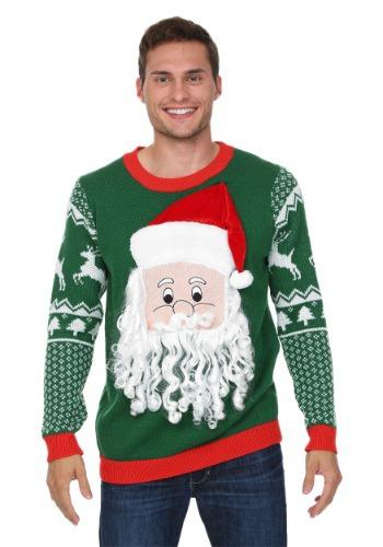 【ポイント最大29倍●お買い物マラソン限定!エントリー】3D Santa Face Ugly Christmas Sweater ハロウィン メンズ コスプレ 衣装 男性 仮装 男性用 イベント パーティ ハロウィーン 学芸会