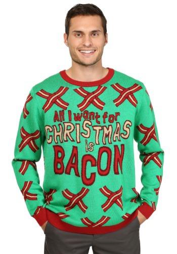 【ポイント最大29倍●お買い物マラソン限定!エントリー】All I Want for Christmas is Bacon Ugly Christmas Sweater ハロウィン メンズ コスプレ 衣装 男性 仮装 男性用 イベント パーティ ハロウィーン 学芸会