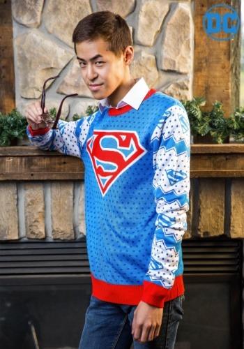 【ポイント最大29倍●お買い物マラソン限定!エントリー】Superman Classic Mens Ugly Christmas Sweater ハロウィン メンズ コスプレ 衣装 男性 仮装 男性用 イベント パーティ ハロウィーン 学芸会
