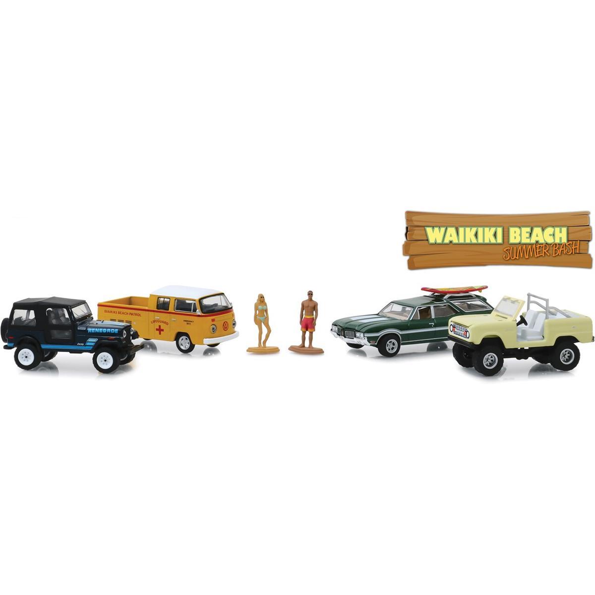 Greenlight Waikiki Beach Multi-Car Diorama 1/64 Scale スケール Diecast Model ダイキャスト ミニカー おもちゃ 玩具 コレクション ミニチュア ダイカスト クリスマス プレゼント ・...