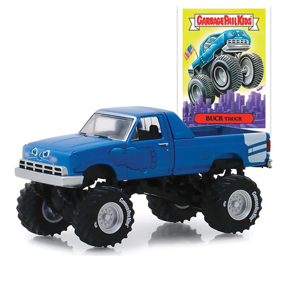 緑light Buck Truck Custom 1995 Monster Truck Garbage Pail Kids 1/64 Scale スケール Diecast Model ダイキャスト ミニカー おもちゃ 玩具 コレクション ミニチュア ダイカスト ...