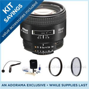 ニコン/Nikon 85mm f/1.8D AF Lens w/Hood -Gray Market w/Filters & Cleaning Bundle 1931 KG/レンズ/Lens/カメラ/camera/アクセサリー NK8518AFDK