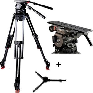 ザハトラー/Sachtler System Video 30 EFP 2 MCF Tripod System with Cine 30 HD Plus Fluid Head EFP 2 CF Tripod Mid-Level Spreader 100/150 Rubber Feet 100/150 Supports 77 lbs./三脚/カメラ/camera/アクセサリー SCV30EFP2MCF