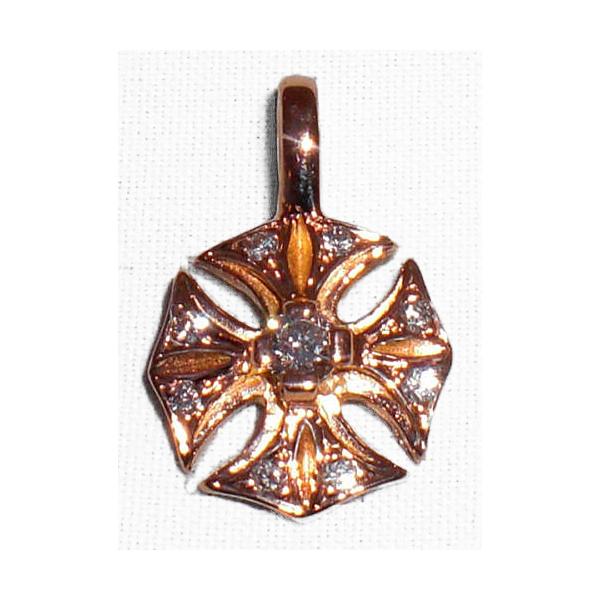 ビルウォール BILL WALL LEATHER ビルウォールレザー BWLGC101D GOTHIC CROSS チャーム 18K DIAMONDS BWL