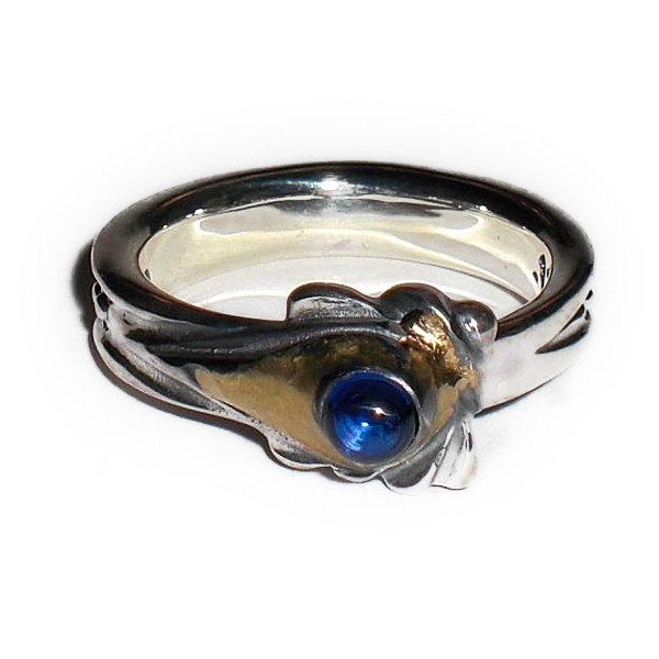 正規品 ビルウォールレザー BILL WALL LEATHER ビルウォール BWLR218S SMALL スプーン リング 指輪 1999 BWL BLUE CAB