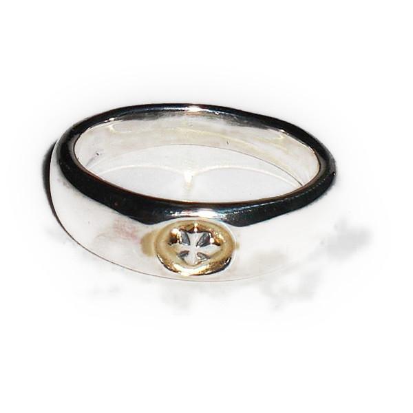 ビルウォール BILL WALL LEATHER ビルウォールレザー BWLR227 SMOOTH Cクロス リング 指輪