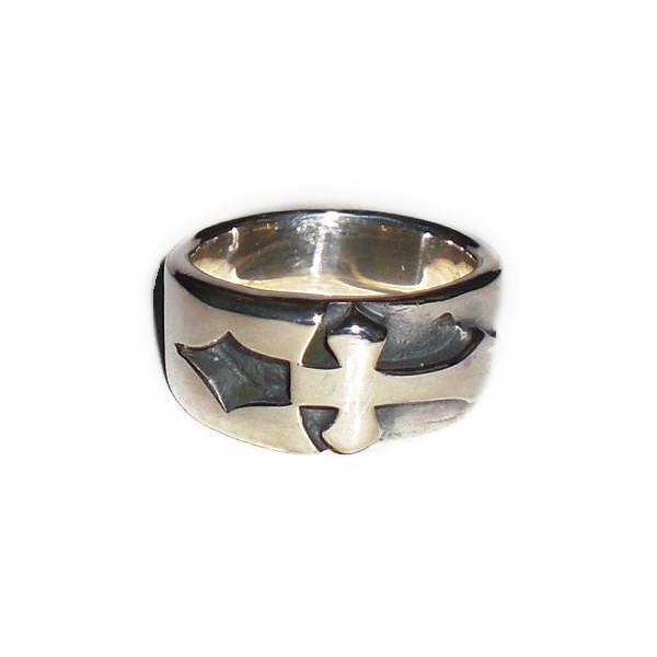 正規品 ビルウォールレザー BILL WALL LEATHER ビルウォール BWLR312 INLAID CROSS リング 指輪 size 5.5 BWL