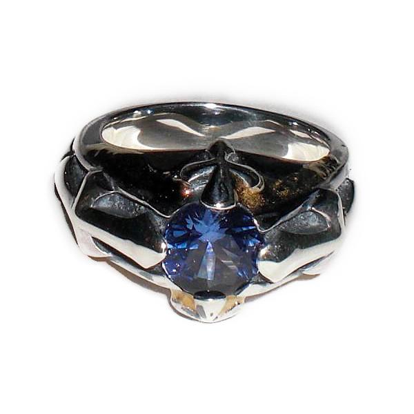 ビルウォール BILL WALL LEATHER ビルウォールレザー BWLR330 LUCKY CROSS リング 指輪 BLUE SAPPHIRE STONE