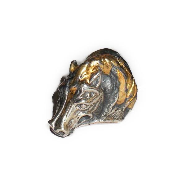 ビルウォール BILL WALL LEATHER ビルウォールレザー BWLR411 HORSE リング 指輪 18K GOLD OVERLAY BWL