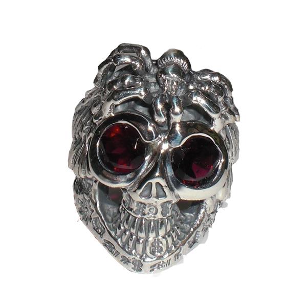 Bill Wall Leather ビルウォールレザー シルバーリング 指輪BILL WALL NOMAD #1 R388S GRAFFITI MASTER SKULL RING シルバーリング 指輪
