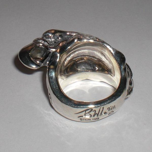 【ビルウォールレザー Bill Wall Leather】BILL WALL LEATHER R417 LARGE EAGLE RINGシルバーリング 指輪