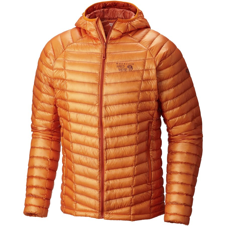 Mountain Hardwear Ghost Whisperer Hooded Down Jacket - Men's Orange Copper メンズ 男性用 アウトドア ダウンジャケット コート アウター Down Jackets