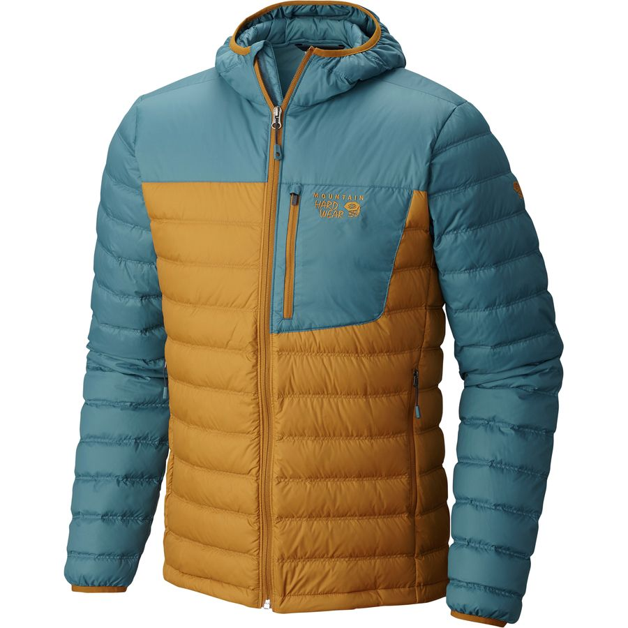 Mountain Hardwear Dynotherm Hooded Down Jacket - Men's Underbrush Cloudburst メンズ 男性用 アウトドア ダウンジャケット コート アウター Down Jackets