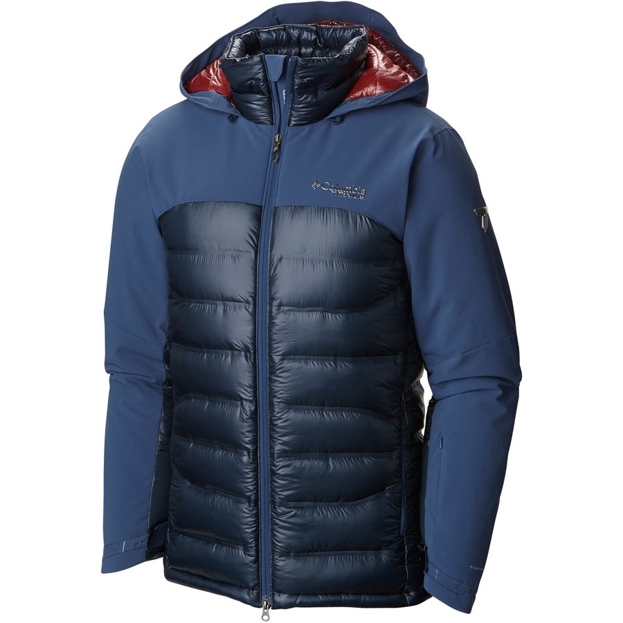 Columbia Heatzone 1000 Turbodown Hooded Jacket - Men's Night Tide Collegiate Navy メンズ 男性用 アウトドア ダウンジャケット コート アウター Down Jackets