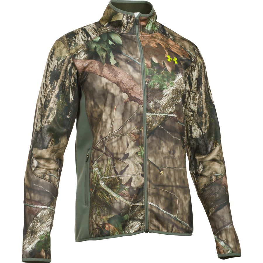 Under Armour Scent Control Armour Fleece 2 Jacket - Men's Mossy Oak Open Count Velocity メンズ 男性用 アウトドア フリース ジャケット コート アウター Fleece Jackets