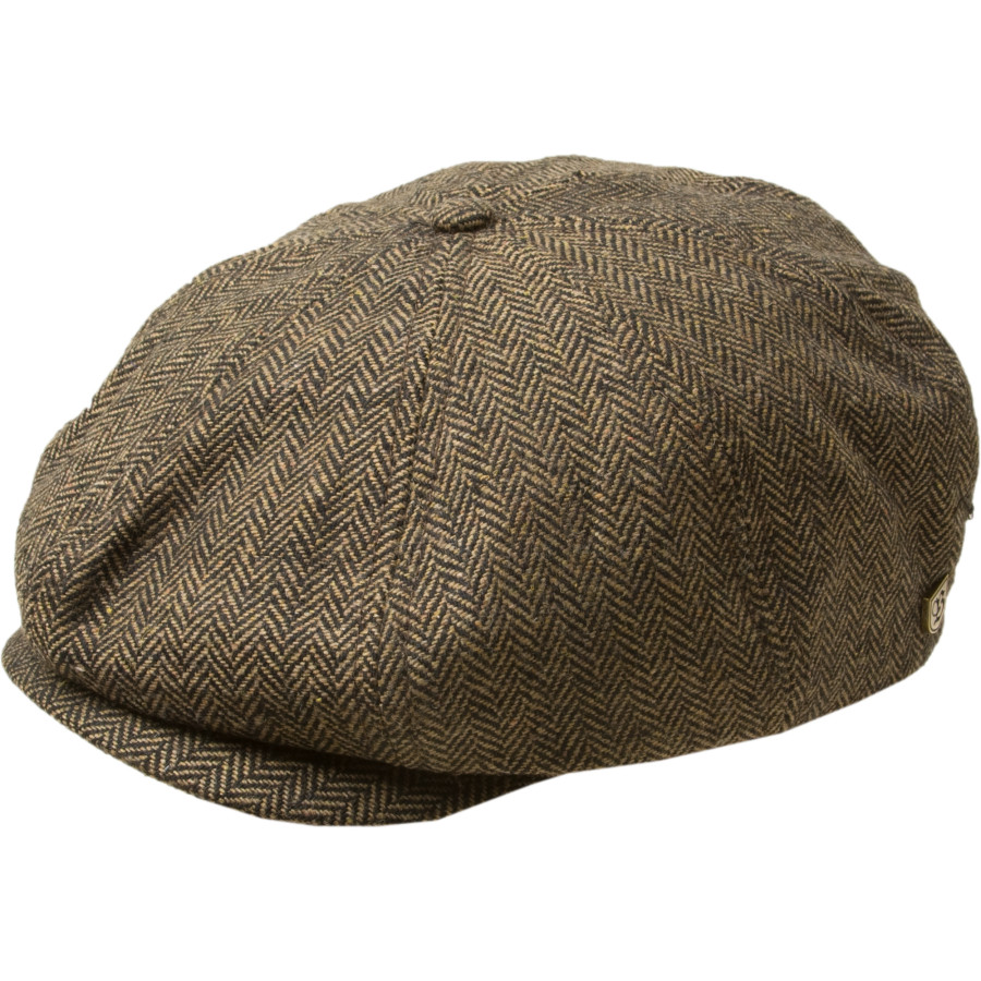 Brixton Brood Snap Cap Brown Khaki Herringbone