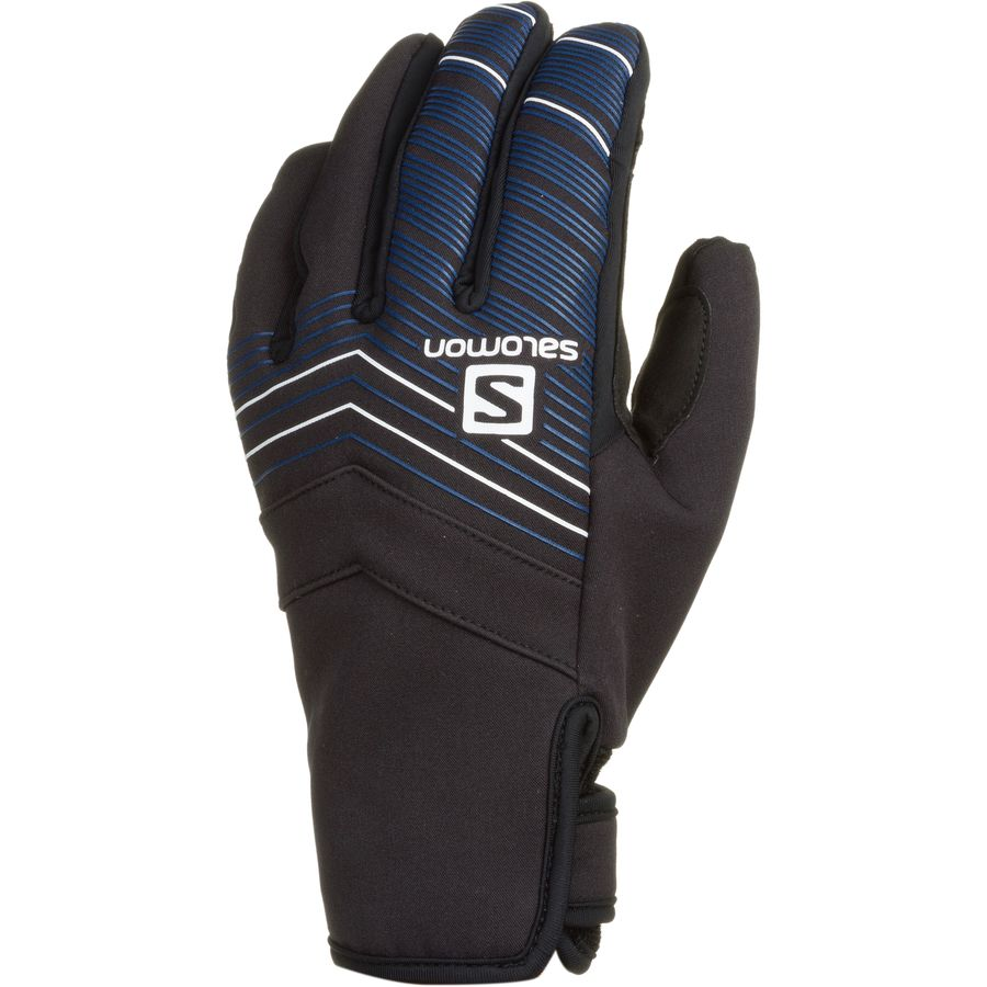 Salomon Thermo Glove - Men's Black Blue Yonder アウトドア メンズ 男性用 グローブ 手袋 Gloves & Mittens