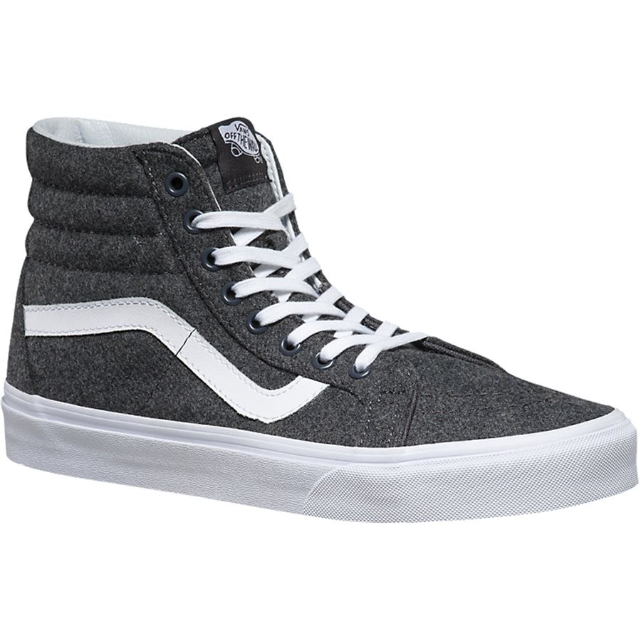 Vans Sk8-Hi Reissue Shoe (varsity) Charcoal True White アウトドア メンズ 男性用 靴 シューズ ブーツ Boots & Shoes