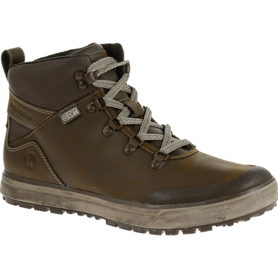 Merrell Turku Trek Waterproof Shoe - Men's Black Slate アウトドア メンズ 男性用 靴 シューズ ブーツ Boots & Shoes