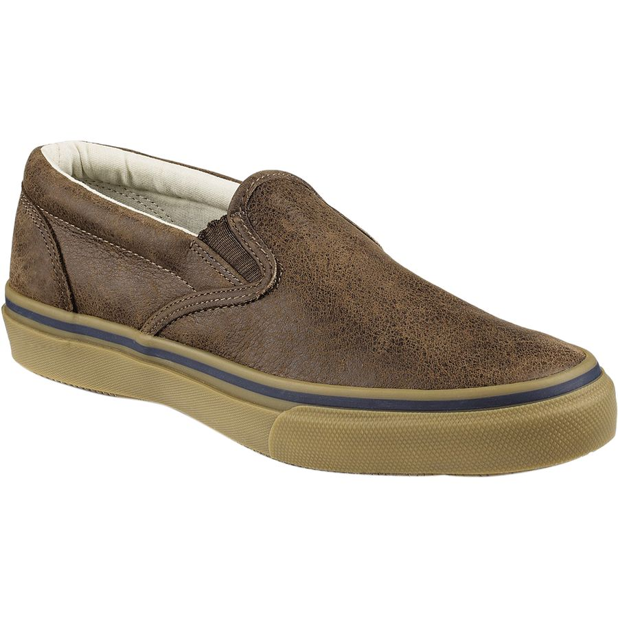 Sperry Top-Sider Striper Slip-On Leather Shoe - Men's Brown アウトドア メンズ 男性用 靴 シューズ ブーツ Boots & Shoes