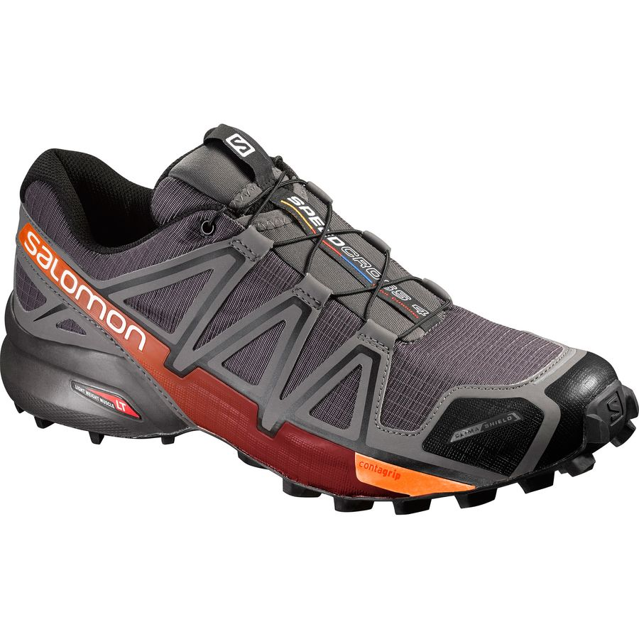 Salomon Speedcross 4 CS Trail Running Shoe - Men's Autobahn Detroit Orange Rust アウトドア メンズ 男性用 靴 ランニングシューズ Running Shoes