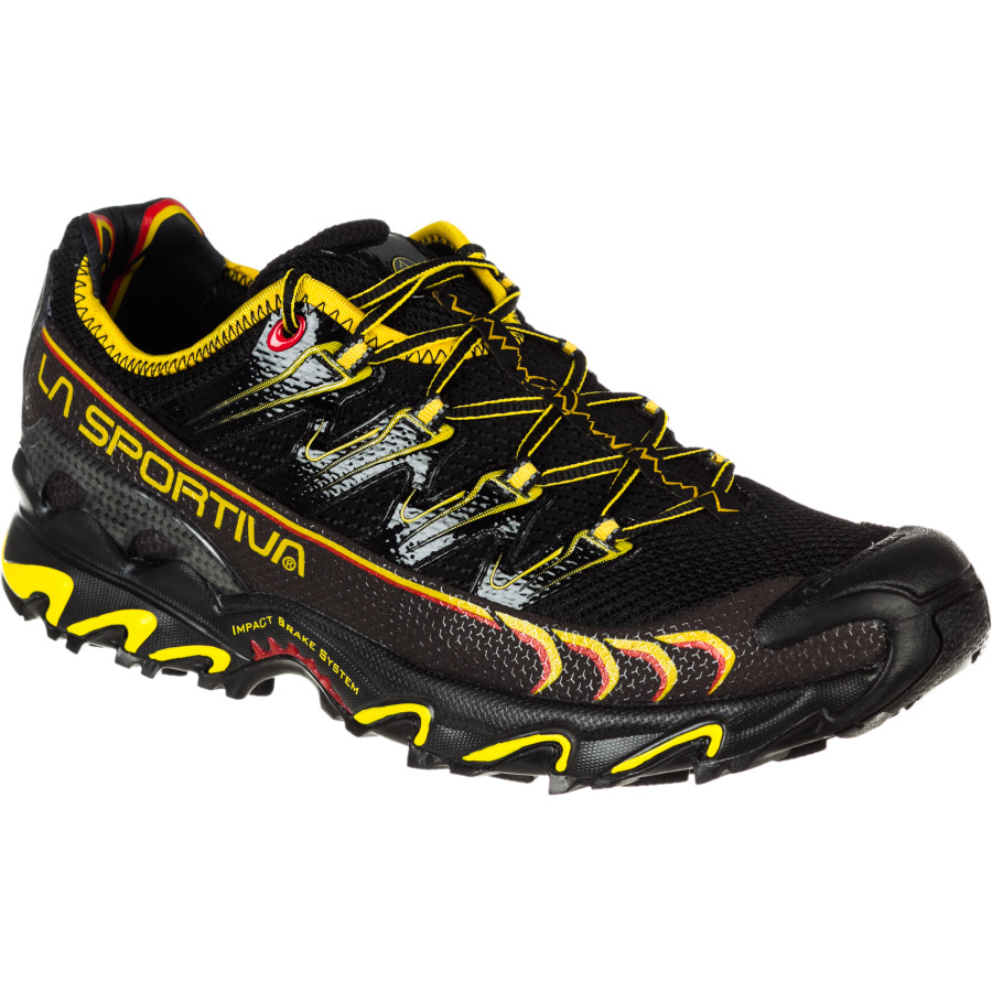 La Sportiva Ultra Raptor Trail Running Shoe - Men's Black Yellow アウトドア メンズ 男性用 靴 ランニングシューズ Running Shoes