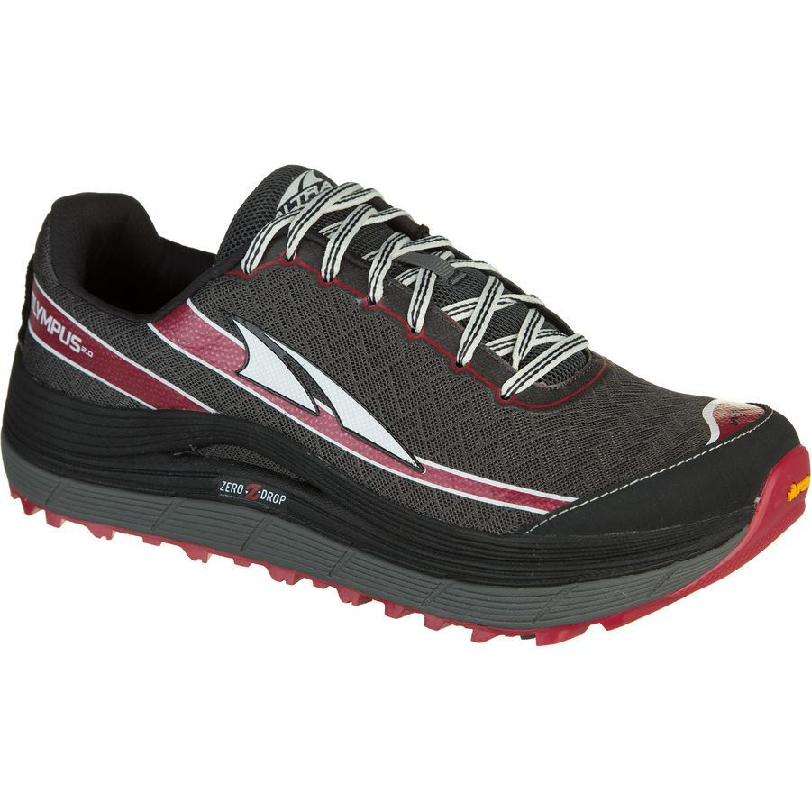 Altra Olympus 2.0 Trail Running Shoe - Men's Charcoal Racing Red アウトドア メンズ 男性用 靴 ランニングシューズ Running Shoes