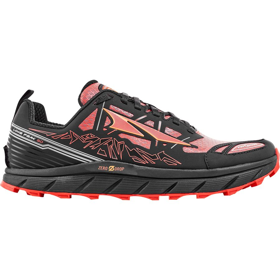 Altra Lone Peak 3.0 Neoshell Trail Running Shoe - Men's Black Orange アウトドア メンズ 男性用 靴 ランニングシューズ Running Shoes