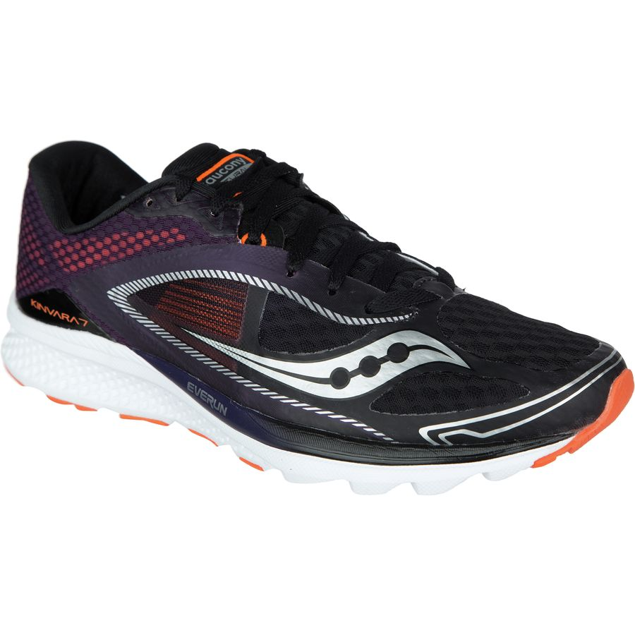 Saucony Everrun Kinvara 7 Running Shoe - Men's Black Purple Orange アウトドア メンズ 男性用 靴 ランニングシューズ Running Shoes