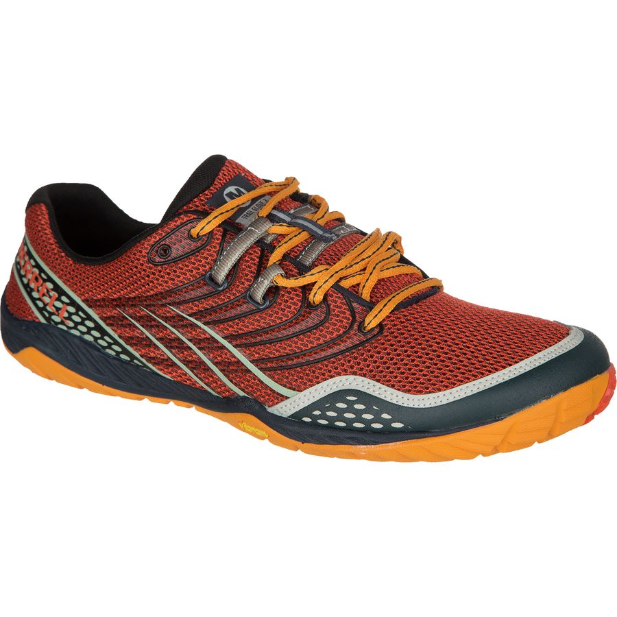 Merrell Trail Glove 3 Trail Running Shoe - Men's Spicy Orange Navy アウトドア メンズ 男性用 靴 ランニングシューズ Running Shoes