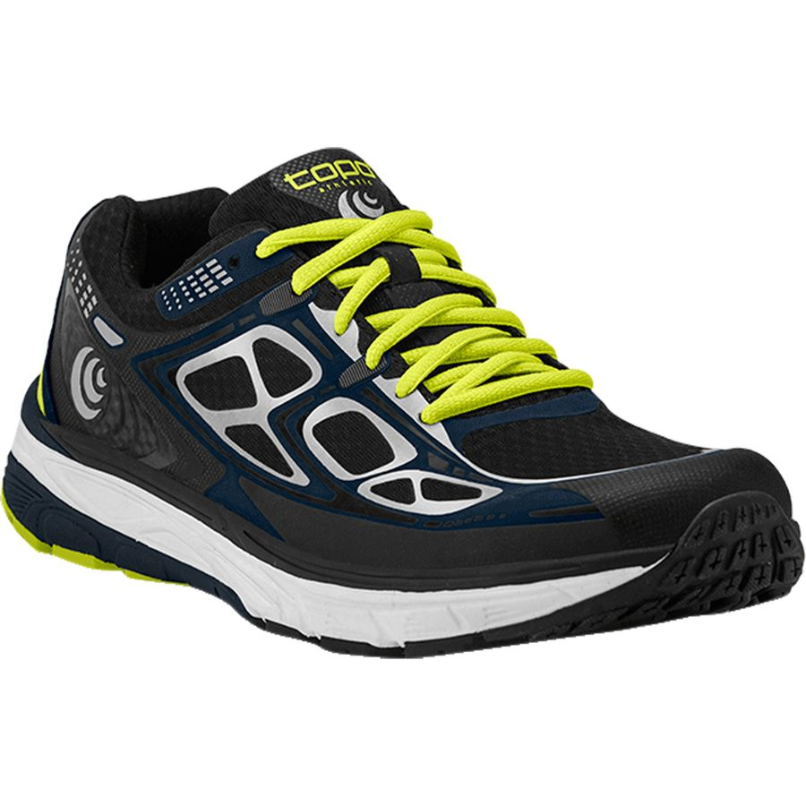Topo Athletic Magnifly Running Shoe - Men's Black Navy アウトドア メンズ 男性用 靴 ランニングシューズ Running Shoes