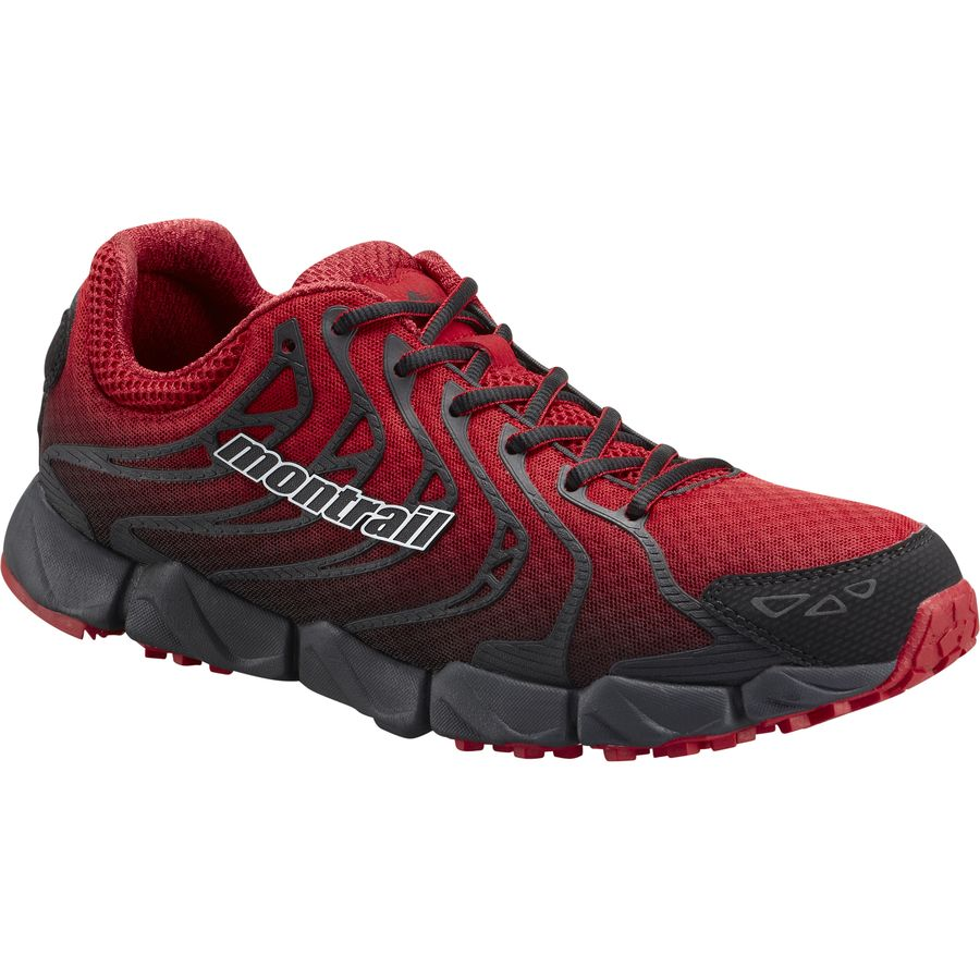 Montrail FluidFlex F.K.T. Trail Running Shoe - Men's Rocket Black アウトドア メンズ 男性用 靴 ランニングシューズ Running Shoes